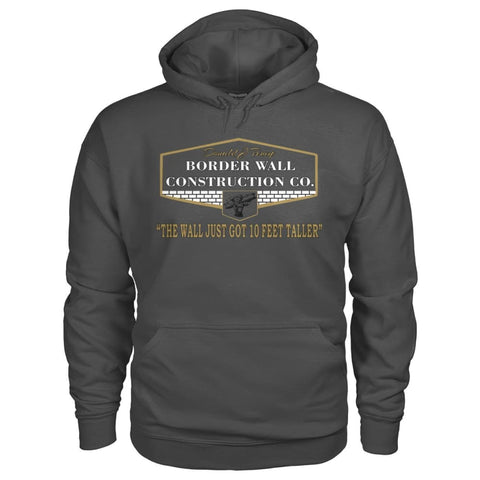 Image of Border Wall Construction Co. Hoodie - Charcoal / S - Hoodies