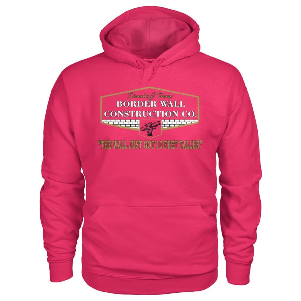 Border Wall Construction Co. Hoodie - Heliconia / S - Hoodies