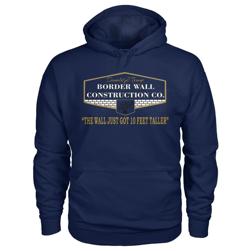 Border Wall Construction Co. Hoodie - Navy / S - Hoodies