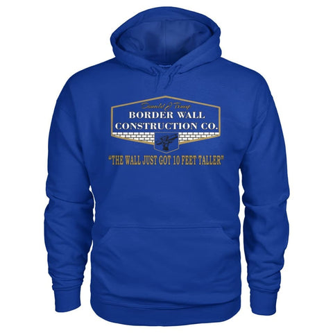 Image of Border Wall Construction Co. Hoodie - Royal / S - Hoodies