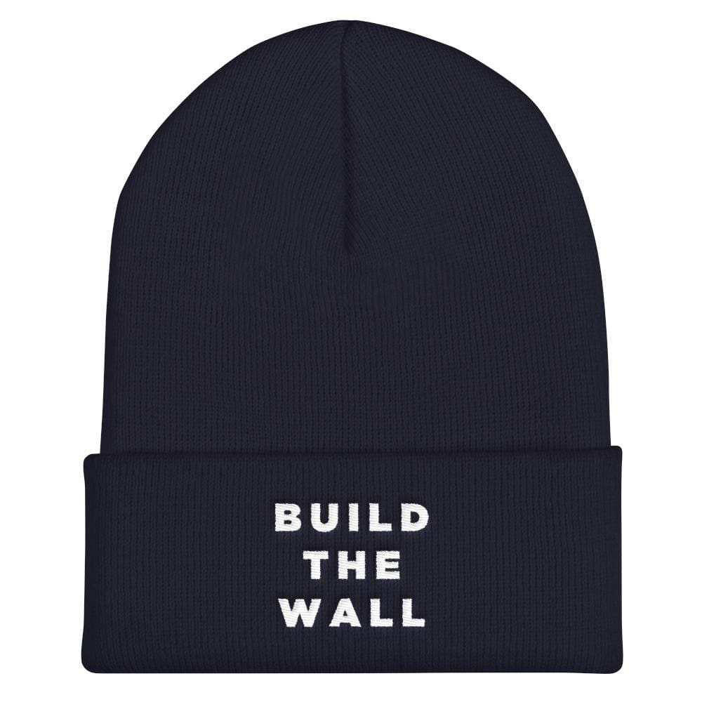 Build The Wall Cuffed Beanie - Navy