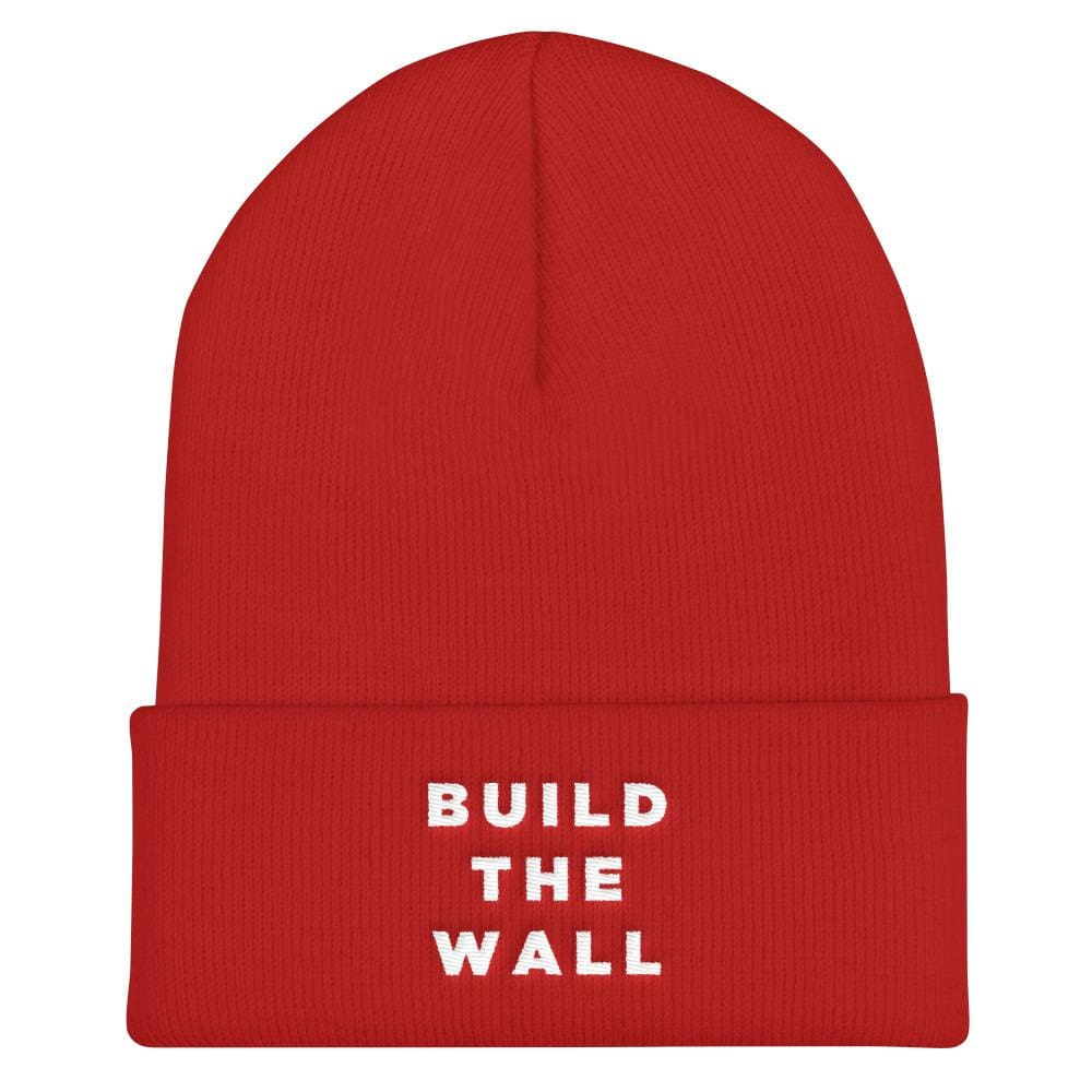 Build The Wall Cuffed Beanie - Red