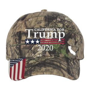 California For Trump 2020 *MADE IN THE USA* Hat - Mossy Oak Country