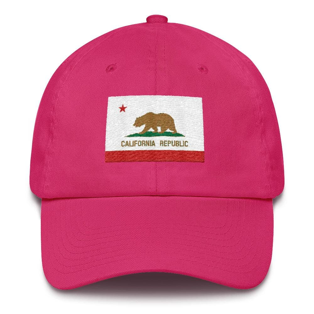 California *MADE IN THE USA* Hat - Bright Pink