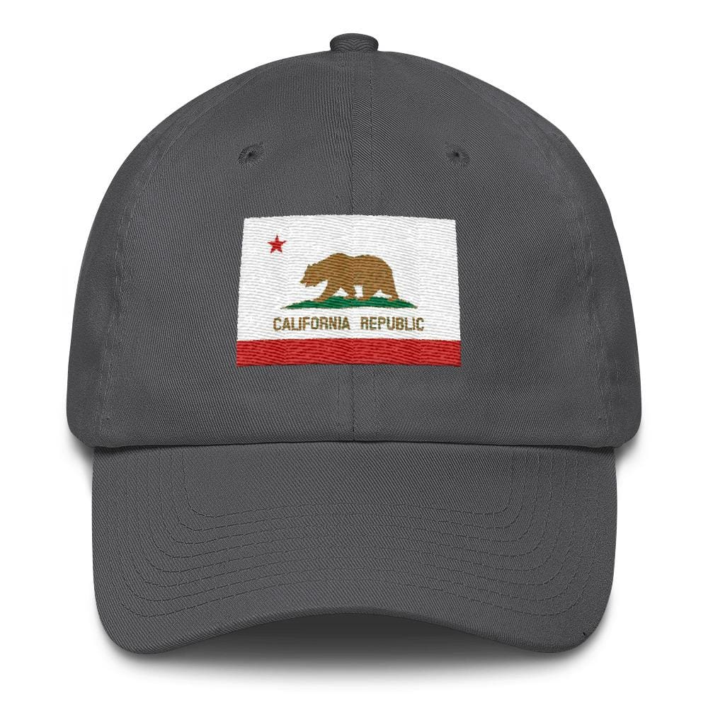 California *MADE IN THE USA* Hat - Charcoal