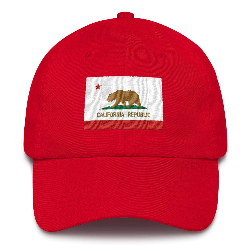 California *MADE IN THE USA* Hat - Red