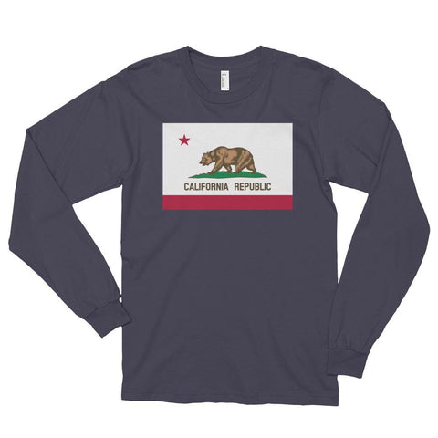 Image of California *MADE IN THE USA* Unisex Long Sleeve T-shirt - Asphalt / S