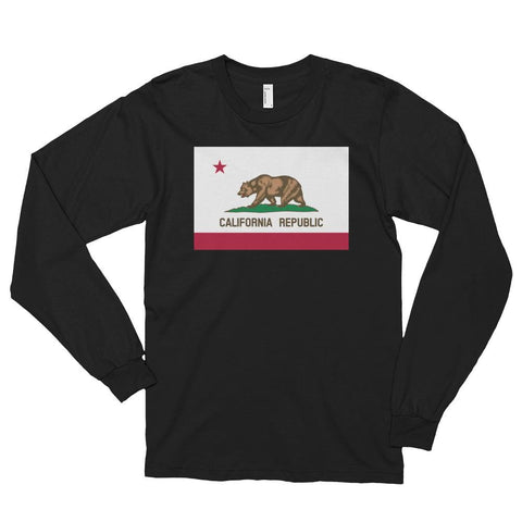 Image of California *MADE IN THE USA* Unisex Long Sleeve T-shirt - Black / S