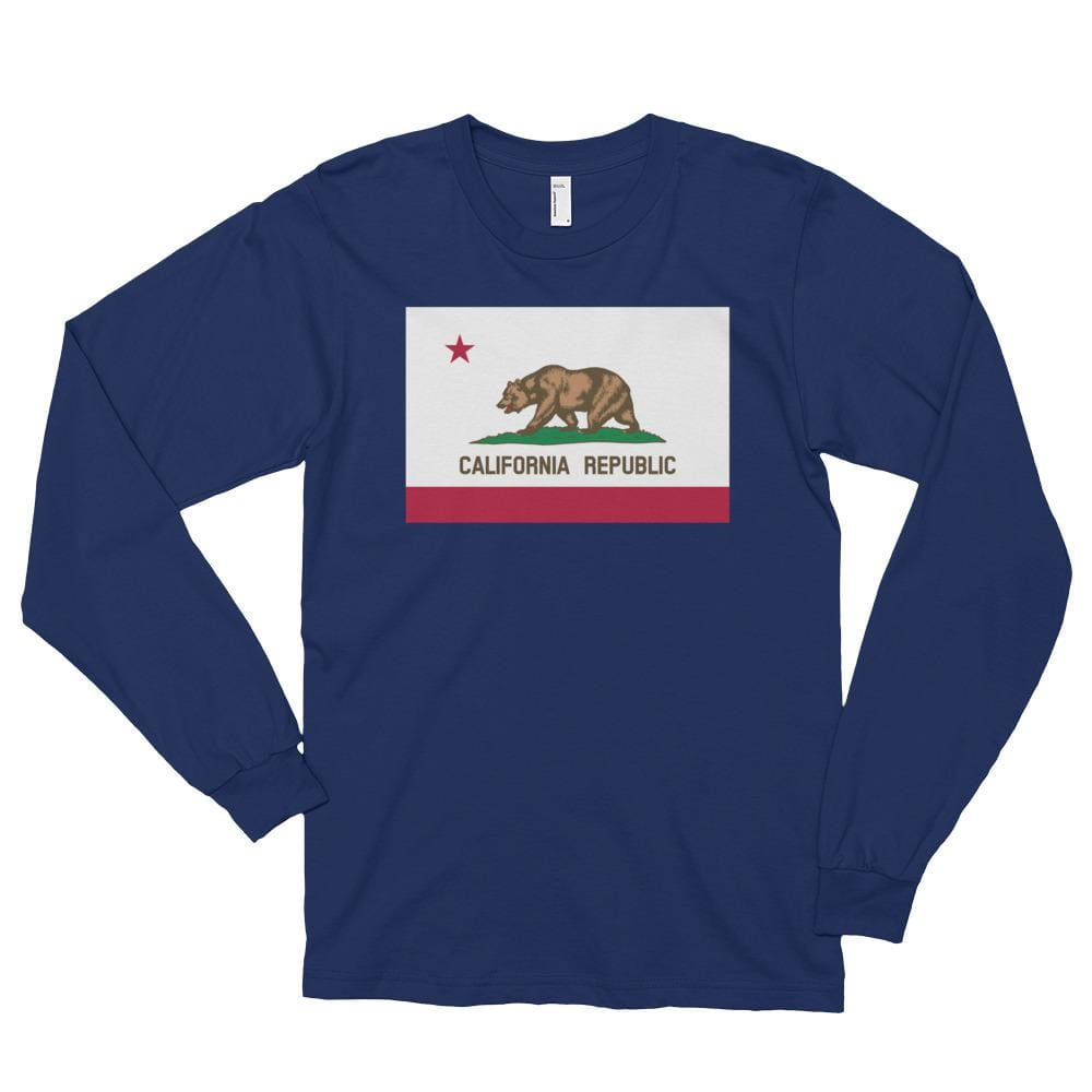 California *MADE IN THE USA* Unisex Long Sleeve T-shirt - Navy / S