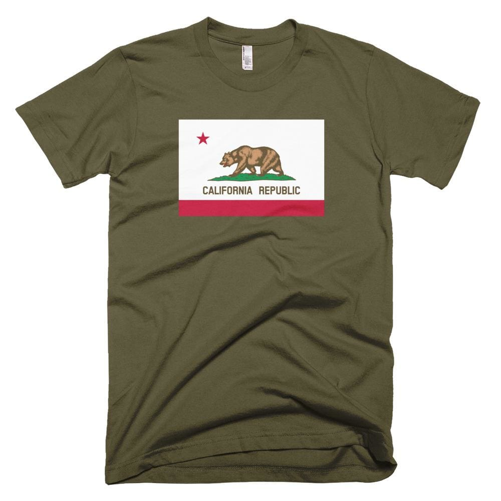 California *MADE IN THE USA* Unisex T-shirt - Army / XS