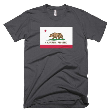Image of California *MADE IN THE USA* Unisex T-shirt - Asphalt / XS