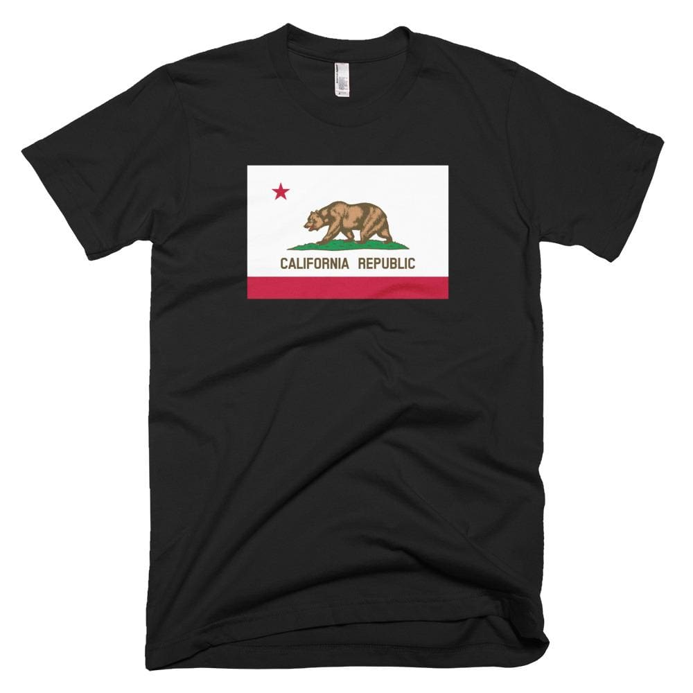 California *MADE IN THE USA* Unisex T-shirt - Black / XS