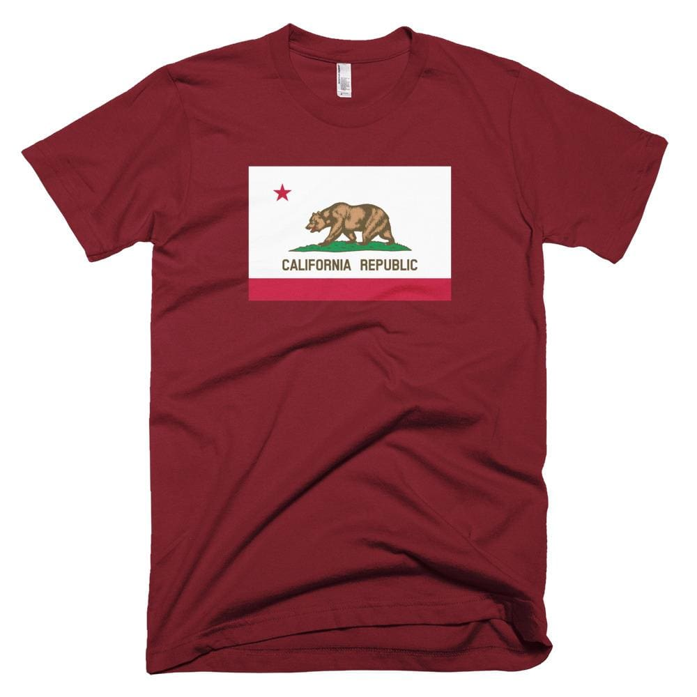 California *MADE IN THE USA* Unisex T-shirt - Cranberry / XS