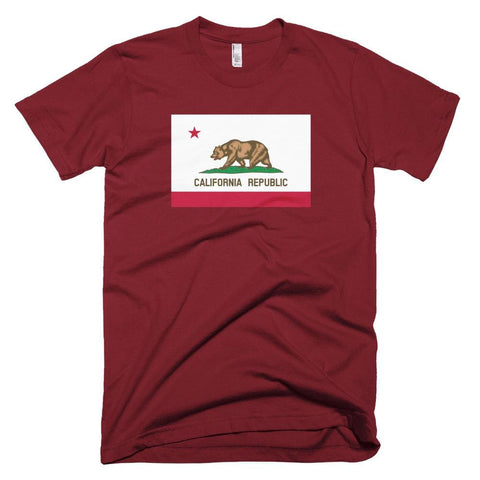 Image of California *MADE IN THE USA* Unisex T-shirt - Cranberry / XS