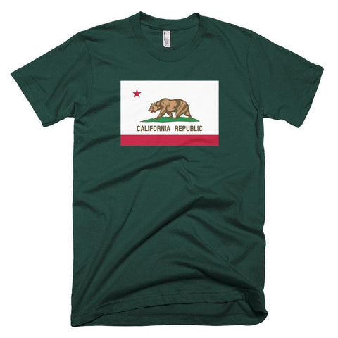 Image of California *MADE IN THE USA* Unisex T-shirt - Forest / XS