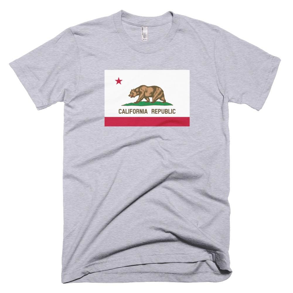 California *MADE IN THE USA* Unisex T-shirt - Heather Grey / XS