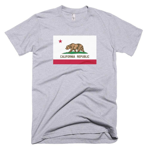 Image of California *MADE IN THE USA* Unisex T-shirt - Heather Grey / XS