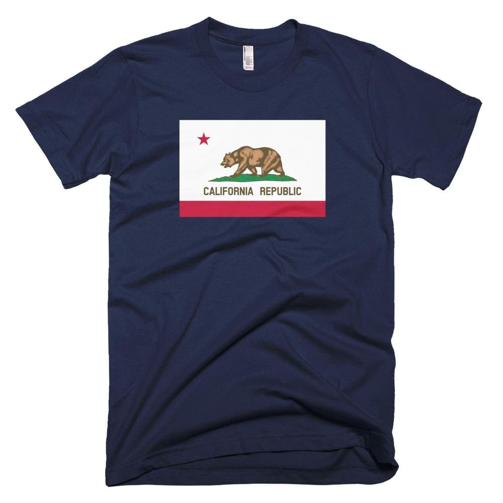 California *MADE IN THE USA* Unisex T-shirt - Navy / XS