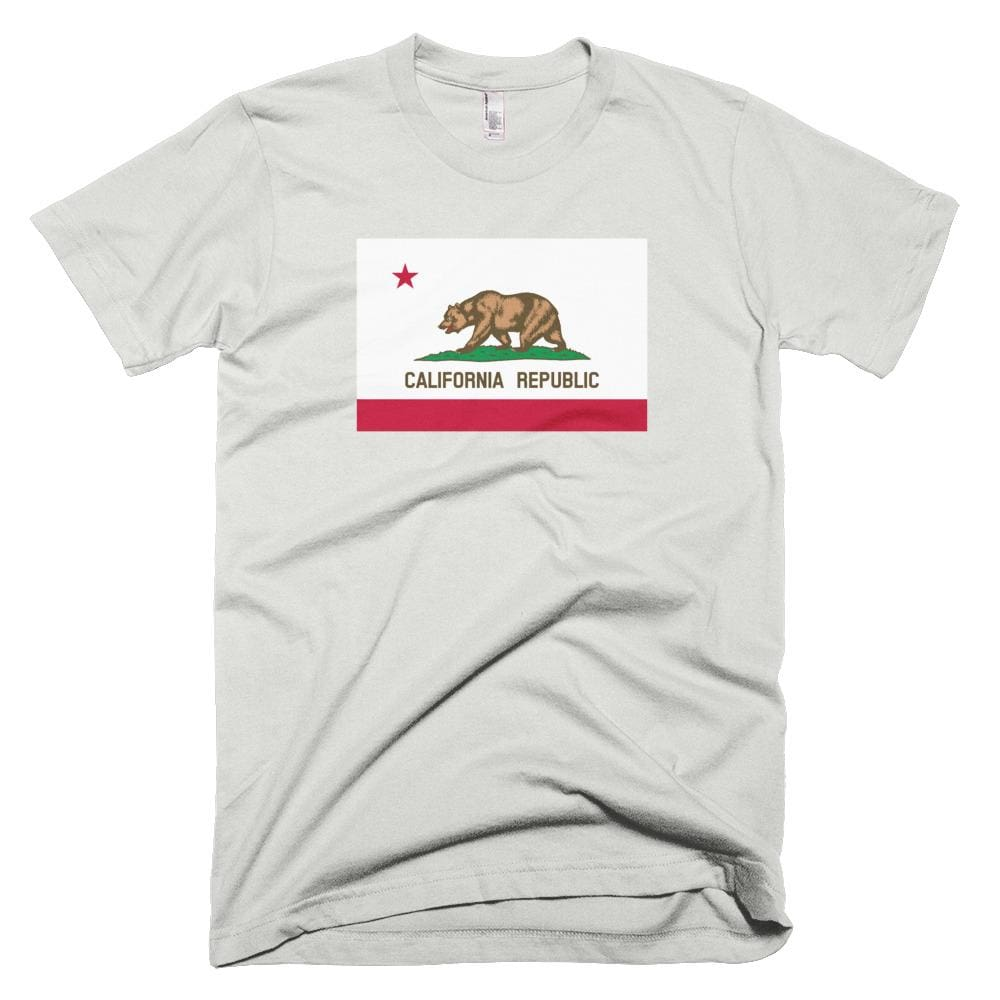 California *MADE IN THE USA* Unisex T-shirt - New Silver / XS