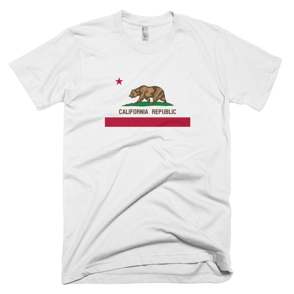 California *MADE IN THE USA* Unisex T-shirt - White / XS