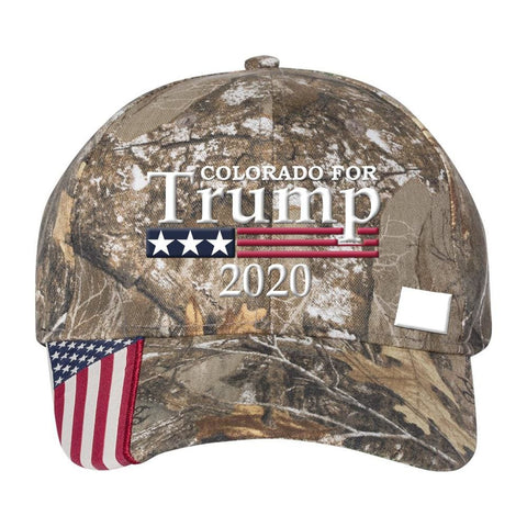 Colorado For Trump 2020 *MADE IN THE USA* Hat - Mossy Oak Country