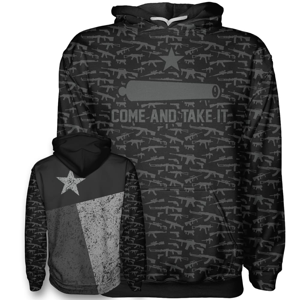 Come and Take It - Texas Flag Hoodie - Come and Take It - Texas Flag Hoodie / Black / XS