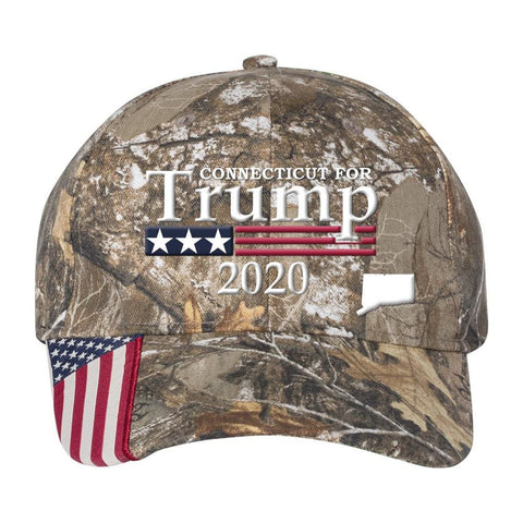 Connecticut For Trump 2020 *MADE IN THE USA* Hat - Mossy Oak Country