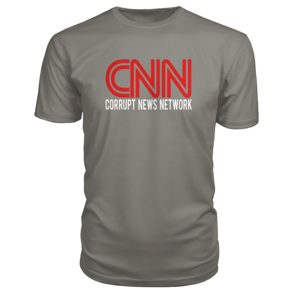 Corrupt News Network Premium Tee - Charcoal / S - Short Sleeves