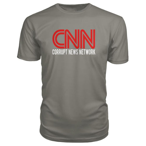 Image of Corrupt News Network Premium Tee - Charcoal / S - Short Sleeves