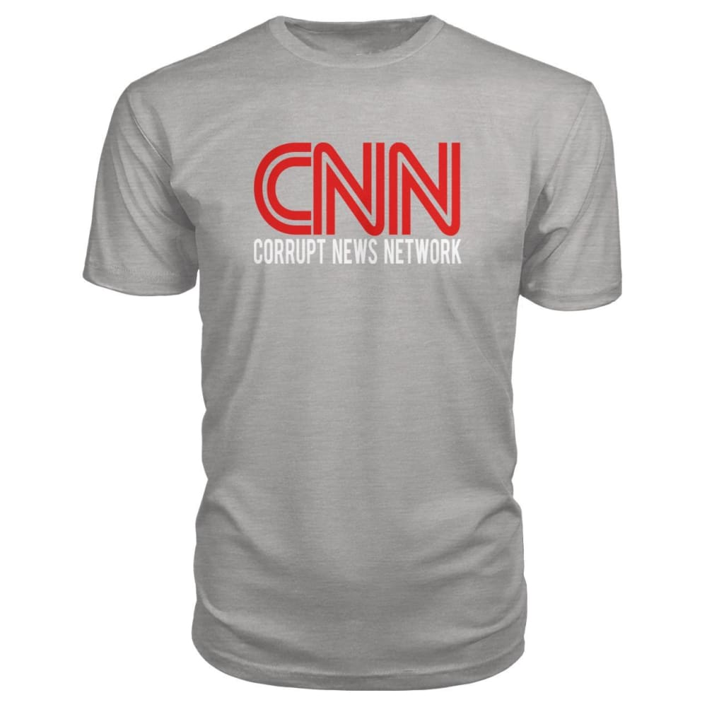 Corrupt News Network Premium Tee - Heather Grey / S - Short Sleeves