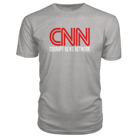 Image of Corrupt News Network Premium Tee - Heather Grey / S - Short Sleeves