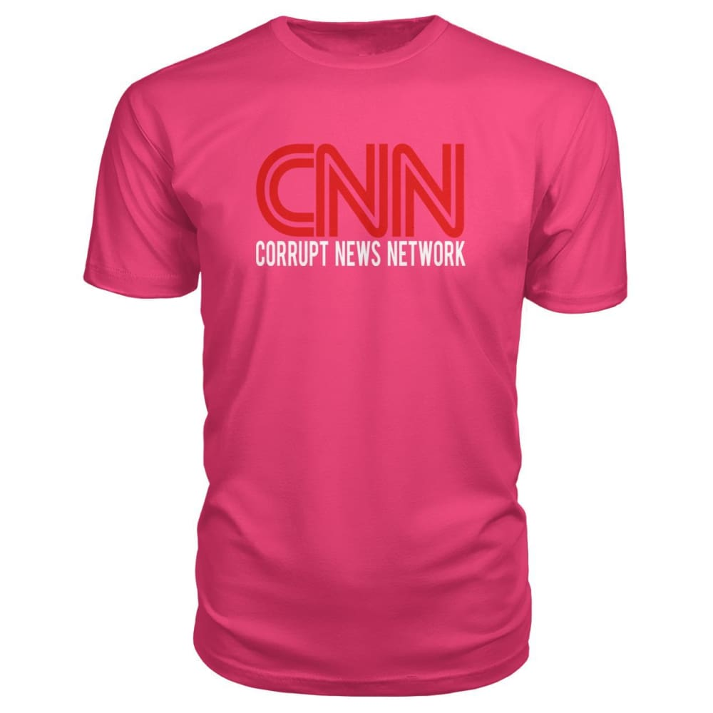 Corrupt News Network Premium Tee - Hot Pink / S - Short Sleeves