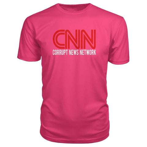 Image of Corrupt News Network Premium Tee - Hot Pink / S - Short Sleeves
