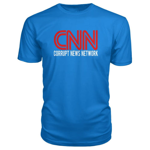 Image of Corrupt News Network Premium Tee - Royal Blue / S - Short Sleeves