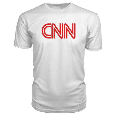 Image of Corrupt News Network Premium Tee - White / S - Short Sleeves