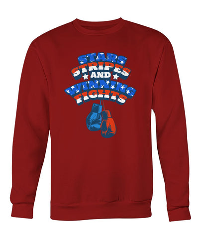 Image of Star Stripes And Winning Fights Sweatshirt