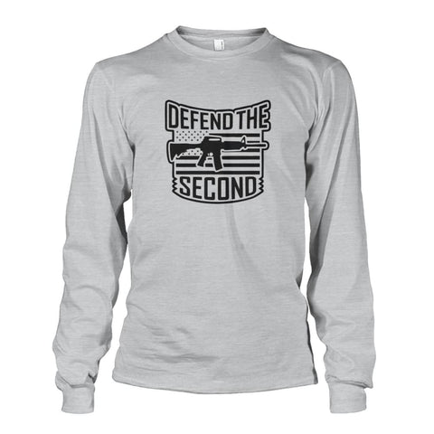 Image of Defend The Second Long Sleeve - Ash Grey / S / Unisex Long Sleeve - Long Sleeves