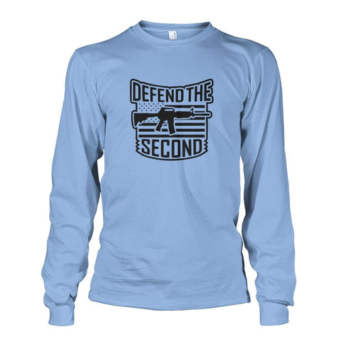 Image of Defend The Second Long Sleeve - Light Blue / S / Unisex Long Sleeve - Long Sleeves