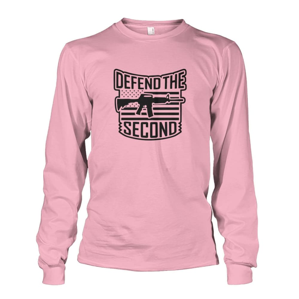Defend The Second Long Sleeve - Light Pink / S / Unisex Long Sleeve - Long Sleeves