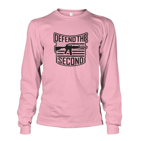 Image of Defend The Second Long Sleeve - Light Pink / S / Unisex Long Sleeve - Long Sleeves
