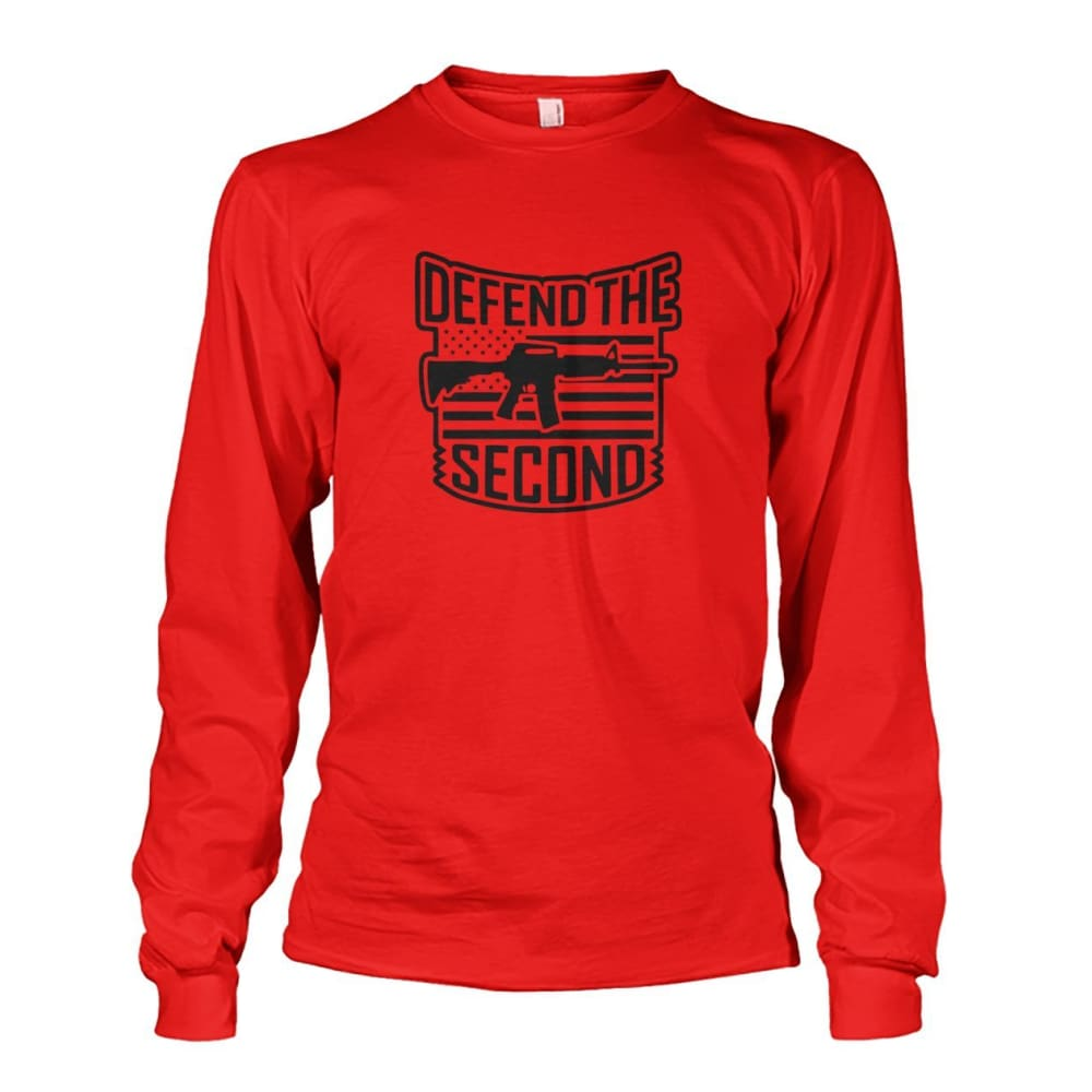 Defend The Second Long Sleeve - Red / S / Unisex Long Sleeve - Long Sleeves