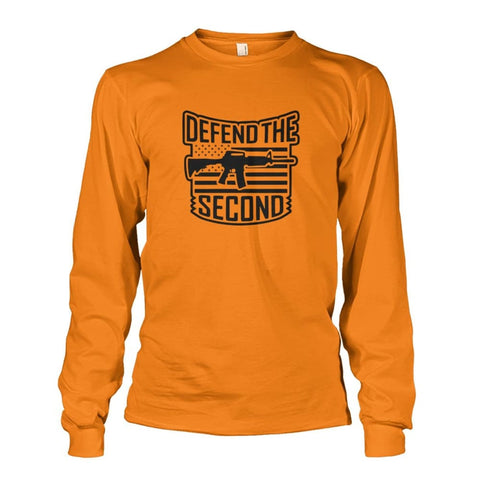 Image of Defend The Second Long Sleeve - Safety Orange / S / Unisex Long Sleeve - Long Sleeves