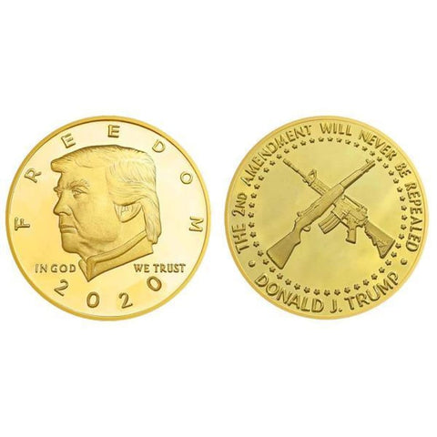 Image of Donald Trump 2nd Amendment 2020 Coin -- In Capsule And Velvet Bag! - Trump Coins and Currency