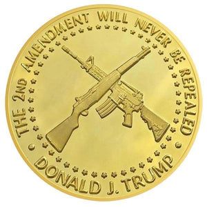 Donald Trump 2nd Amendment 2020 Coin -- In Capsule And Velvet Bag!
