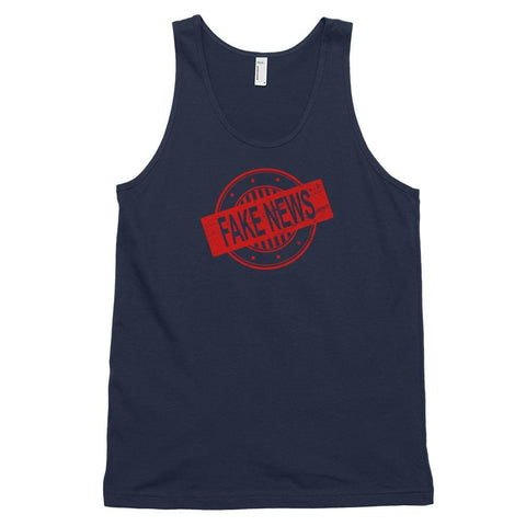 Image of Fake News *MADE IN THE USA* Unisex Tank Top - Navy / XS
