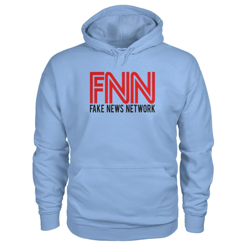 Fake News Network Hoodie - Light Blue / S / Gildan Hoodie - Hoodies