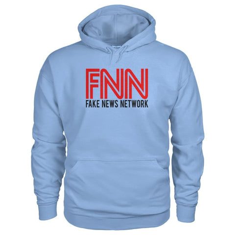 Image of Fake News Network Hoodie - Light Blue / S / Gildan Hoodie - Hoodies