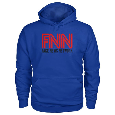 Image of Fake News Network Hoodie - Royal / S / Gildan Hoodie - Hoodies