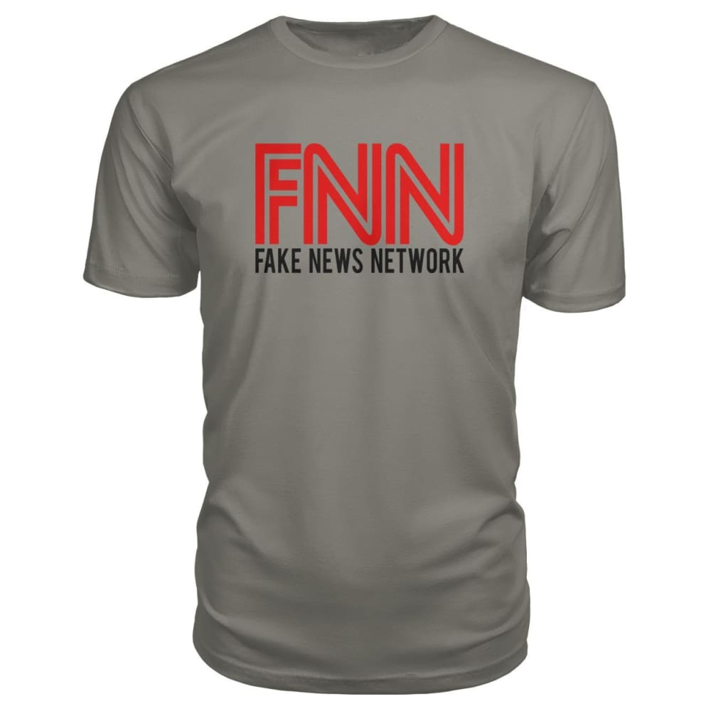 Fake News Network Premium Tee - Charcoal / S / Premium Unisex Tee - Short Sleeves