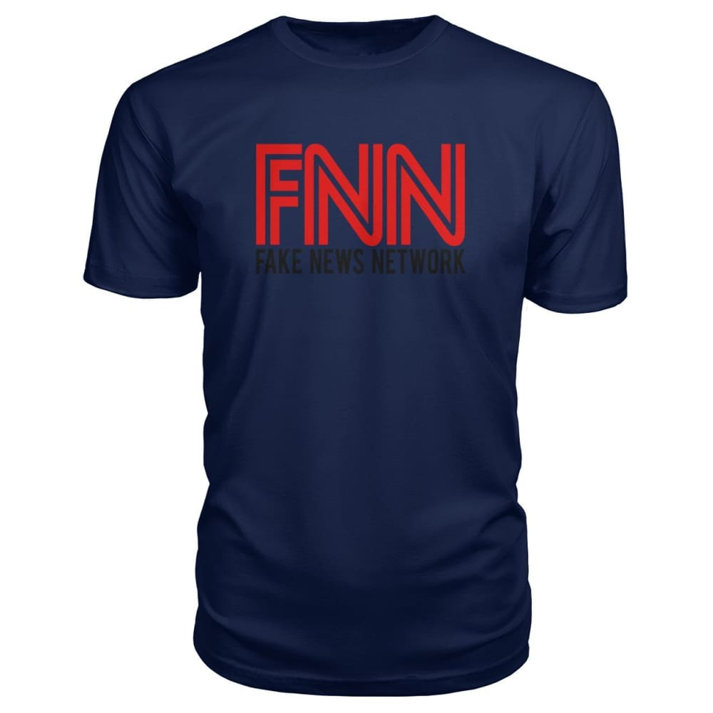 Fake News Network Premium Tee - Navy / S / Premium Unisex Tee - Short Sleeves